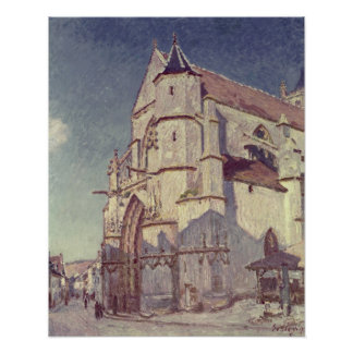 Poster Alfred Sisley   l'église chez Moret