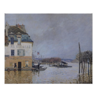 Poster Alfred Sisley   l'inondation à Port-Marneux