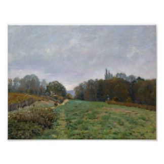 Poster Alfred Sisley - paysage chez Louveciennes