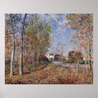 Poster Alfred Sisley   un coin des bois chez Sablons