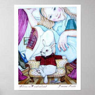 Poster Alice au pays des merveilles,