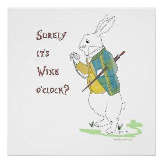 Poster Alice chez le lapin de blanc du pays des
