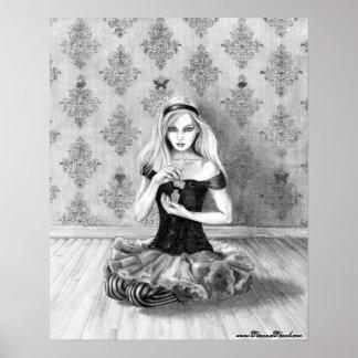 Poster Alice dans l'art d'Alice d'affiche du pays des