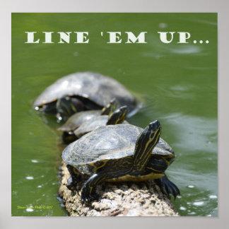 Poster Alignez les tortues