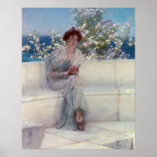 Poster Alma-Tadema | l'année est au ressort