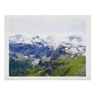 Poster Alpes suisses impressionnantes