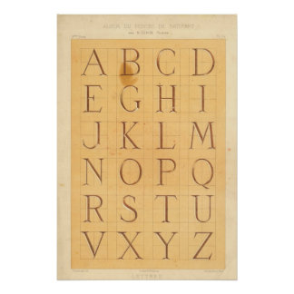 Poster Alphabet (Lettres)