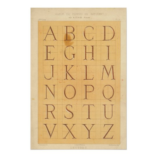 Poster Alphabet (Lettres)