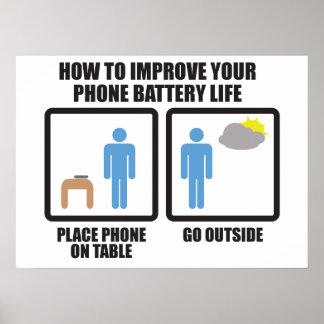Poster Améliorez la durée de vie de la pile de téléphone