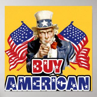 Poster Américain d'achat (fabriqué en Chine) -