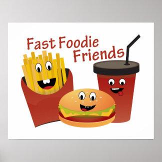 Poster Amis rapides de sourire de fin gourmet