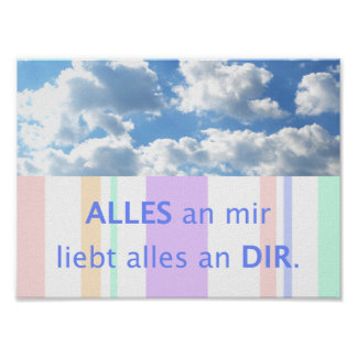 Poster Amour, belles maximes de maximes cieux allemandes
