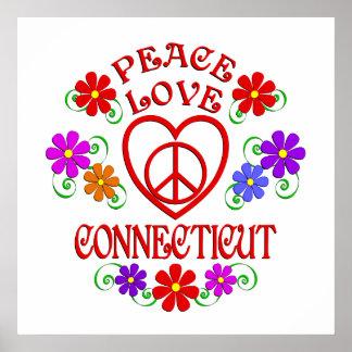 Poster Amour Conecticut de paix