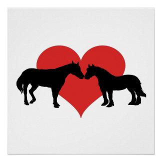 Poster Amour de cheval
