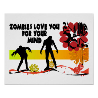 Poster Amour de zombis vous pour votre esprit