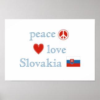 Poster Amour et la Slovaquie de paix
