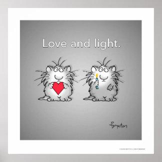 Poster Amour et lumière par Sandra Boynton