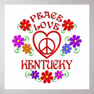 Poster Amour Kentucky de paix
