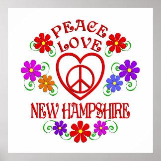 Poster Amour New Hampshire de paix