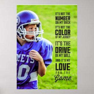 Poster Amour pour l'affiche de jeu avec votre photo