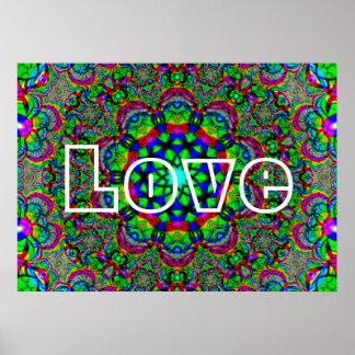 Poster Amour psychédélique