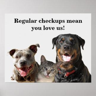 Poster Amour vétérinaire votre affiche de contrôle