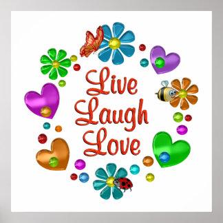 Poster Amour vivant de rire d'amusement