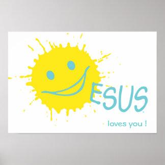 Poster Amours de Sonburst Jésus vous affiche