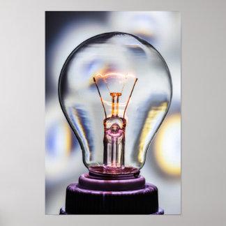 Poster Ampoule d'idées lumineuses