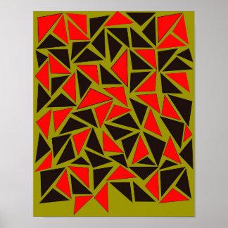 Poster Amusement avec des triangles
