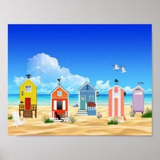 Poster Amusement coloré d'été de plage