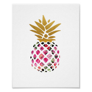 Poster Ananas - copie d'art - décor