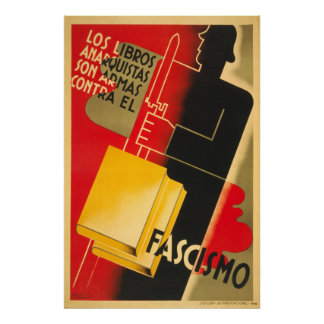 Poster Anarchiste de guerre civile espagnole/affiche de