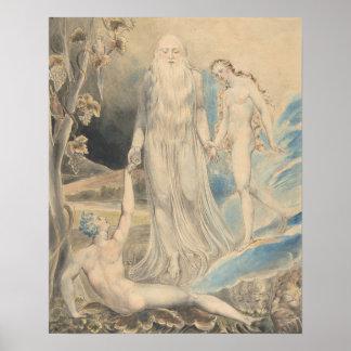 Poster Ange de la présence divine apportant Ève à Adam