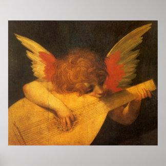 Poster Ange de musicien d'art de Renaissance par Rosso