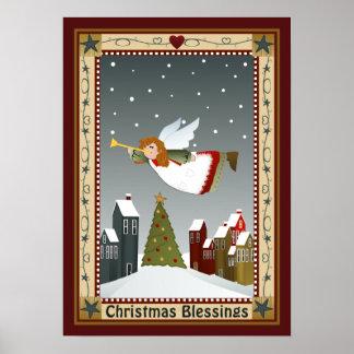 Poster Ange de Noël (2) affiche