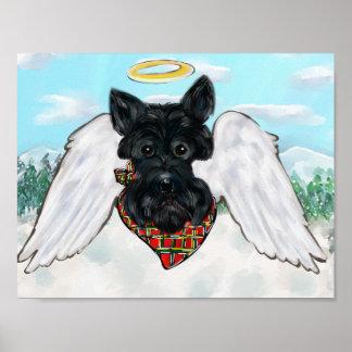 Poster Ange noir de Terrier d'écossais