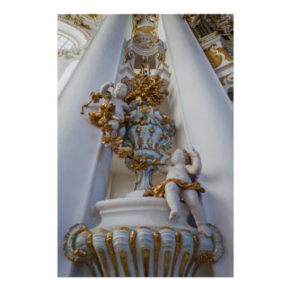 Poster Anges dans l'église de Wieskirche