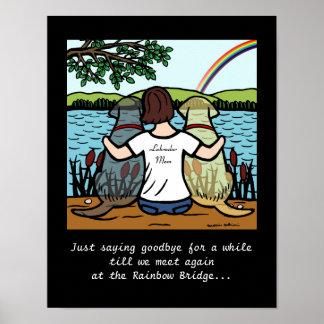 Poster Anges de Labrador et brune jaunes et noirs de
