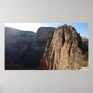 Poster Anges débarquant au parc national de Zion