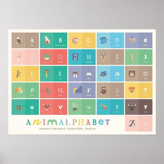 Poster Animalphabet