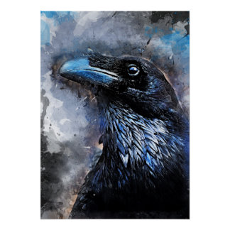 Poster #animals de #bird de #crow d'art de corneille