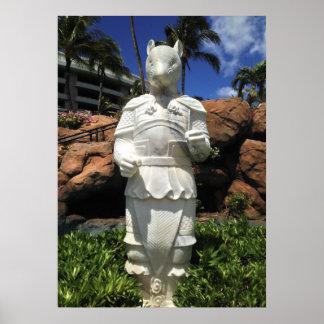 Poster Année de la statue de rat, Waikoloa, Hawaï