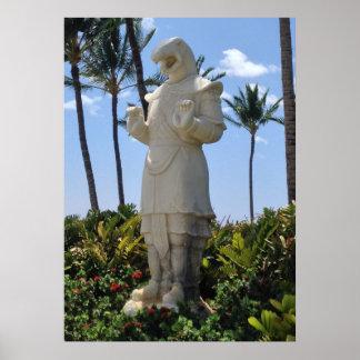 Poster Année de la statue de serpent, Waikoloa, Hawaï