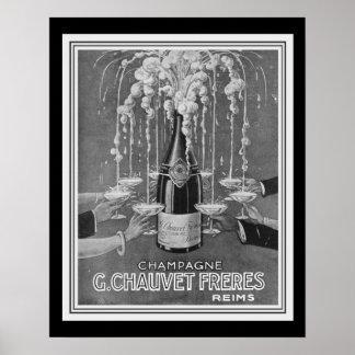Poster Annonce 16 x 20 de Deco Chauvet Freres Champagne