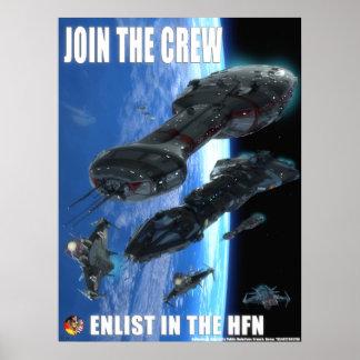 Poster Annonce de marine de fédération de hub