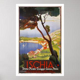 Poster Annonce de voyage d'été de l'Italie d'île
