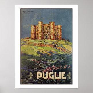Poster Annonce italienne vintage de voyage de Pouilles