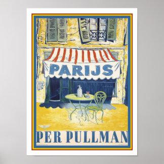 Poster annonce /Paris de voyage de train de pullman des