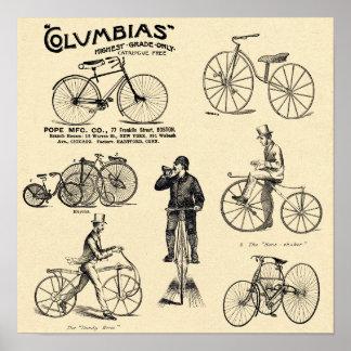 Poster Annonce vintage de bicyclette de Colombie